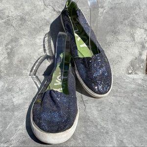 Roxy Abbey Sparkles Black Glitter Loafers
